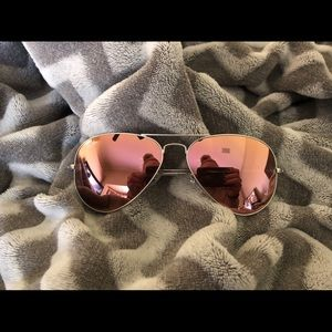 Authentic pink and silver RayBan Aviators